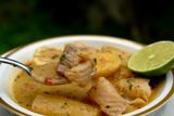 Boiled fish and fish soup