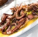 Boiled octopus in vinegar